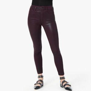 NWT || Joe's Jeans Burgundy Coated Skinny Jeans